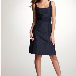 Ann Taylor taffeta navy bridesmaid/occasion dress